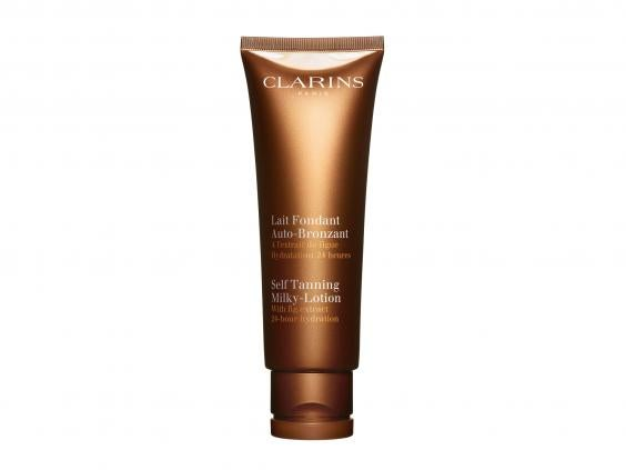 9 best self tanners for your body the independent clarins self tanning milky g fandeluxe Ebook collections