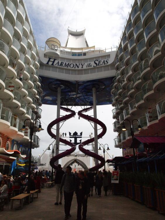 Harmony Of The Seas Stepping On Board The World S Largest