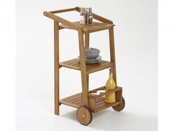 La Redoutes Acacia Wood Trolley Is Compact Making It A Useful Addition Around The Kitchen Or Dining Room Its Also Smart Enough To Serve Drinks On And