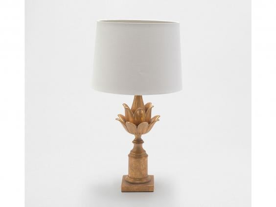 Zarau0027s Eastern Inspired Bedside Light Has An Antique Gold Finish And Comes  With A Cotton Shade. The Unusual Lamp Brings A Bit Of Vintage Luxury To The  ...