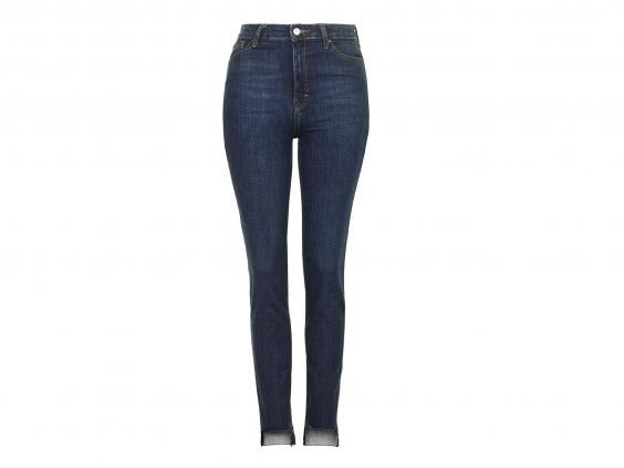 Ladies high waisted straight jeans uk