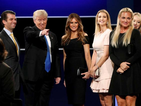 trump 3 presidential debate donald trump's nerves got the better of him,Trump Family Meme