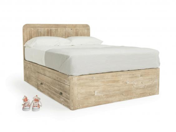 loafs hand finished bed is made from chunky reclaimed fir a feature that gives it a vintage look at 40cm the base of the bed is unusually high