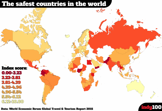 Safest Countries To Travel To In