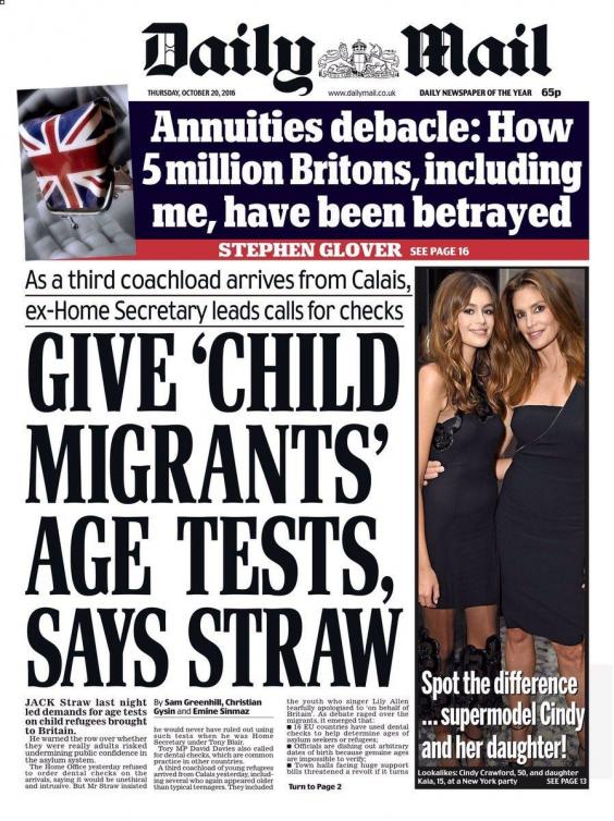 Spot the very obvious problem in this Daily Mail front ...