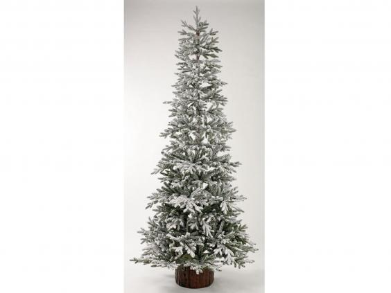 Homebase 7 5 ft snowy larch artificial christmas tree 163 80 homebase