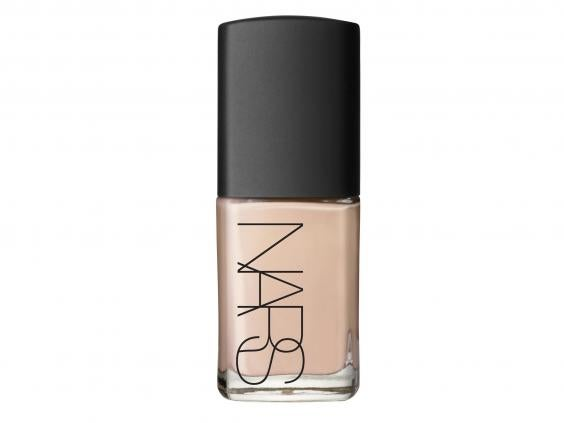 Nars is one of the lighter foundations we tried and is easily applied over a primer. The finished look is a radiant, highlighted one and the buildable ...