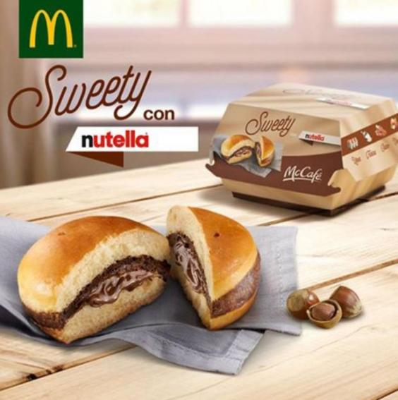 McDonald's Italy introduces Nutella 'burger'