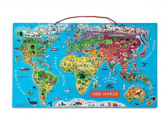 Many A Child Has Learned The Basics Of World Geography Through A Map On Their Bedroom Wall But This One Is Different Not Only Is It Wooden And Colourful