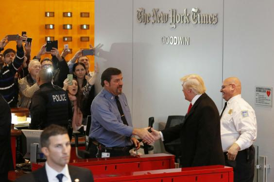 Mr Trump has long accused the New York Times of being unfair to him