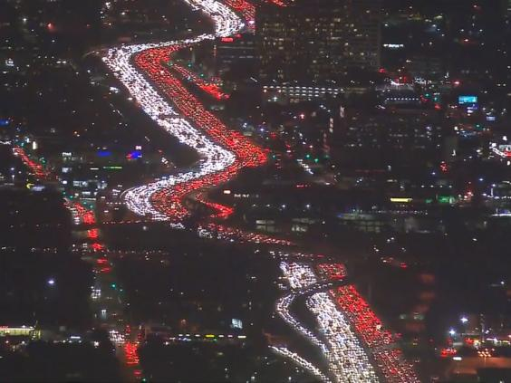 Thanksgiving traffic jam in Los Angeles is 'most epic'