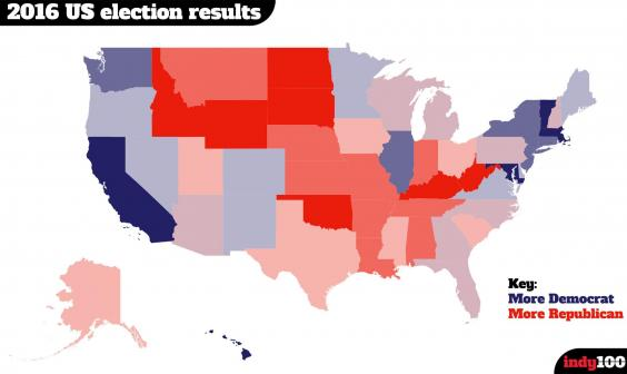 Election Maps US Presidential Election Results Map By State - Us election 2016 editable map