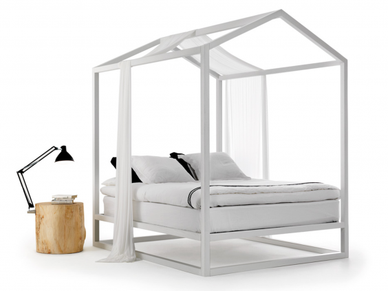 Designer Nathan Yong's bed for Italian brand Mogg is a pared-down version  of the four-poster, with an unusual pitched canopy. It is made in solid ash  and ...