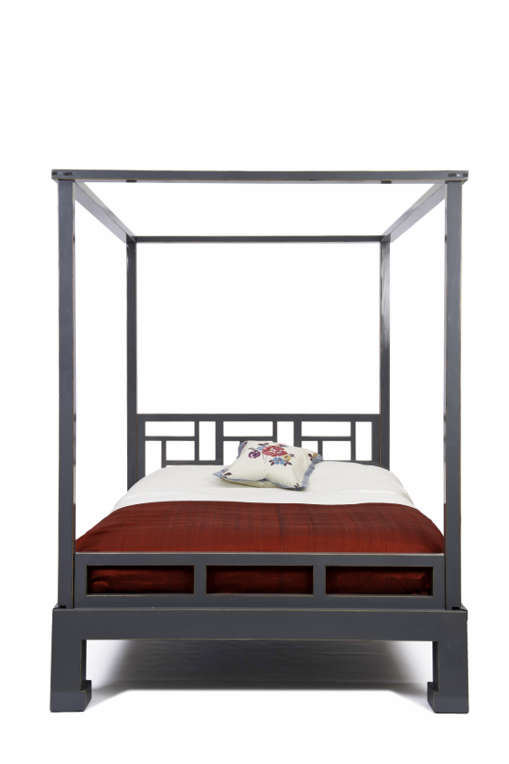 orchids decadent king size bed is inspired by the orient but has a modern rather than antique feel made from solid chinese elm the sturdy bed frame has