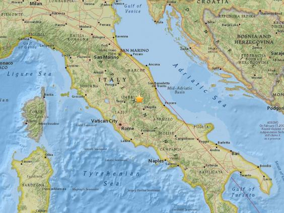 A 5.3 earthquake hit Central Italy on 18 January 2017 (USGS)