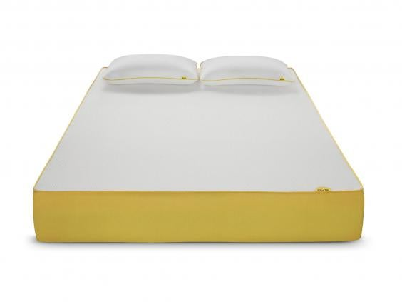 mattress brands. another rolled and vacuum packed mattress that\u0027s ordered online delivered to your door, the difference with this yellow-branded one \u2013 which has two foam brands r
