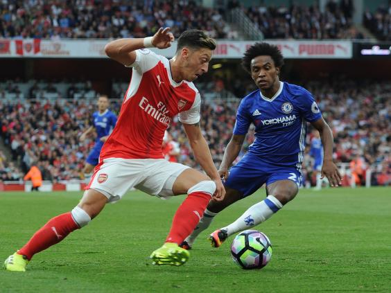 Ozil in action against Chelsea- a fixture Arsenal lost