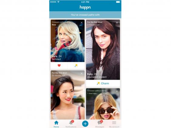 Happn shows you singles with whom you've crossed paths. You create your  profile through Facebook and can also link your Instagram and Spotify  accounts if ...