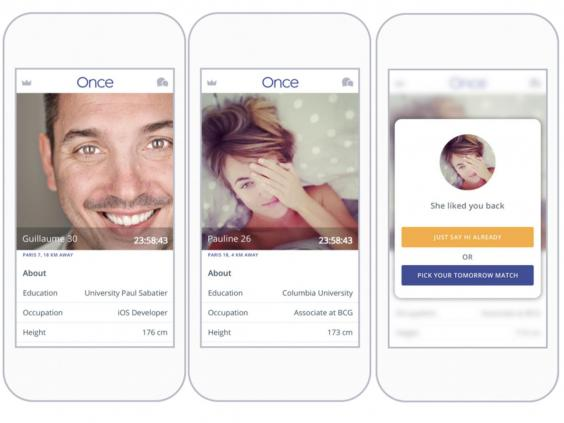 The idea behind Once is to move away from today's dating app culture and  back towards traditional match-making – after a computer does the initial  whittling ...