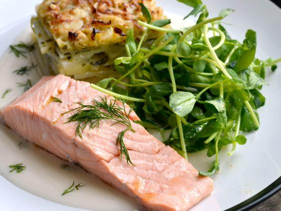 How to poach salmon video poached salmon with cherry tomato salad poached salmon 1g ccuart Gallery