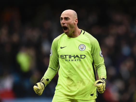 Guardiola was keen to praise Caballero's level of performance