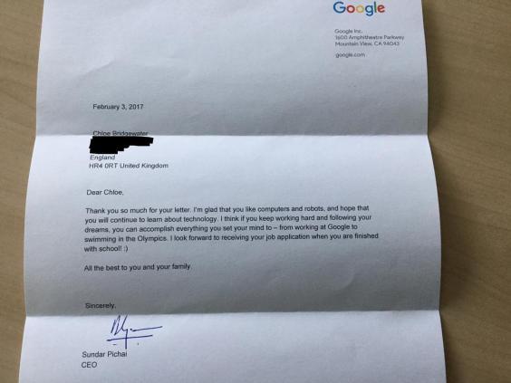 Viral: Gadis 7 Tahun Kirim Surat Lamaran ke Google