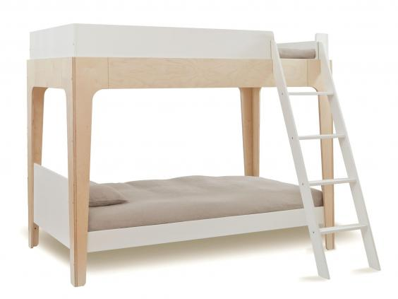 This Deluxe Bunk Bed Comes In Two Parts And Makes A Good Option For Irregular Spaces Or Unconventional Use The White Framed Bottom Is Regular