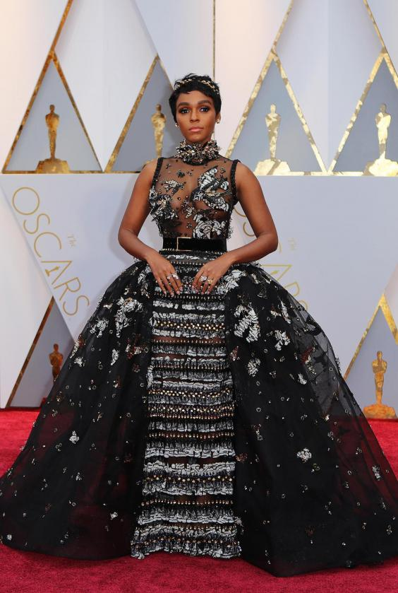 Oscars 2017: Janelle Monáe makes red carpet debut in Elie Saab ...