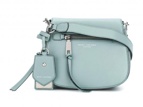 We love the icy blue colour of this small satchel bag from Marc Jacobs that  just oozes springtime verve. Fitted with an adjustable, detachable shoulder  ...