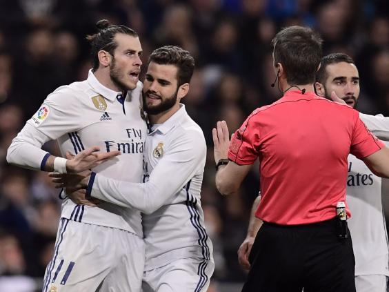 Gareth Bale was sent off for Real Madrid recently