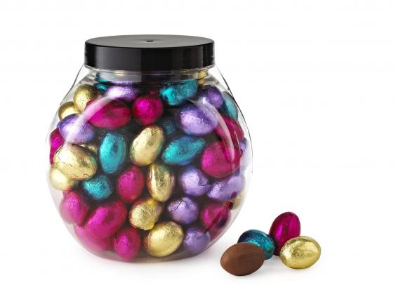 if youd rather focus your efforts on an easter egg hunt than a large egg theyll either forget about or overindulge on then this plastic jar will do you