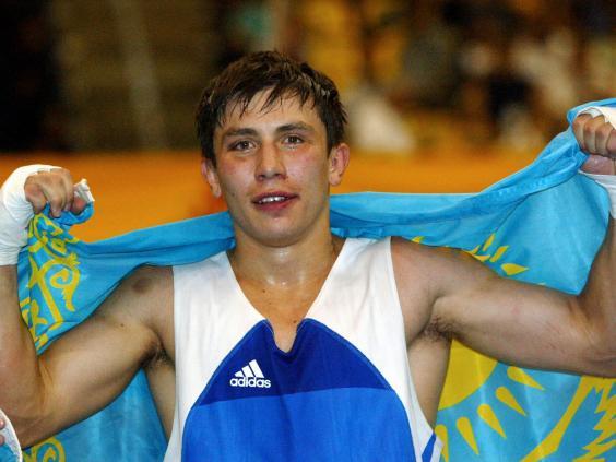Gennady Golovkin slips by Jacobs