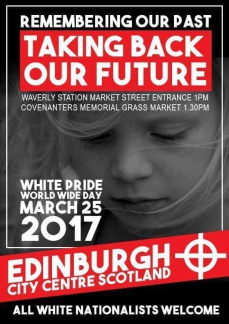 Image result for white pride march edinburgh