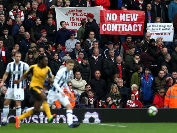 Arsenal fans are restless