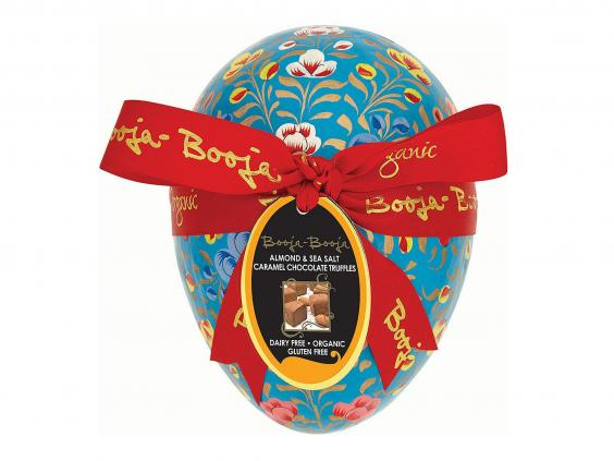 7 best dairy free easter eggs the independent the best looking of the bunch luxury organic dairy free chocolatiers booja boojas easter egg is a hand painted purple velvet lined case with dusted negle Images