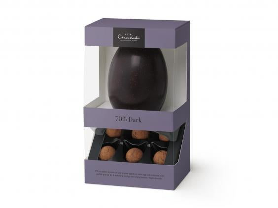 7 best dairy free easter eggs the independent hotel chocolat hard boiled easter egg 70 dark 190g 15 hotel chocolat negle Gallery