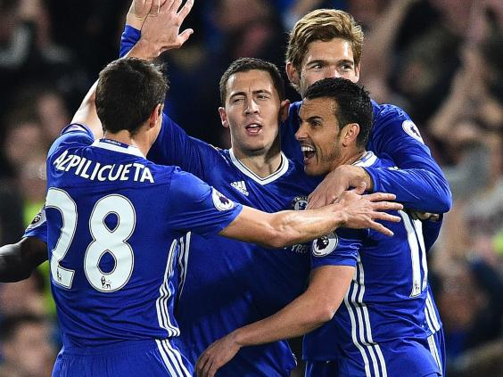 Hazard sparkles as Chelsea sees off City
