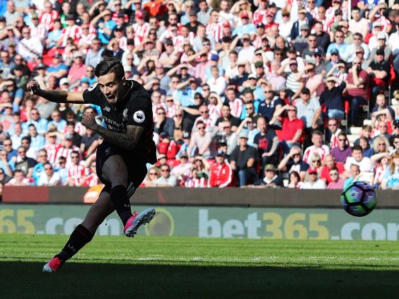 Coutinho and Firmino seal points for Liverpool at Stoke