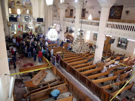 Image result for Palm Sunday attacks: 43 dead, more than 100 injured in church bombings carried out by ISIS in Egypt