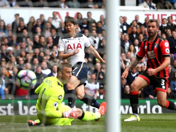 Son levels S Korean scoring record as Spurs beat Bournemouth