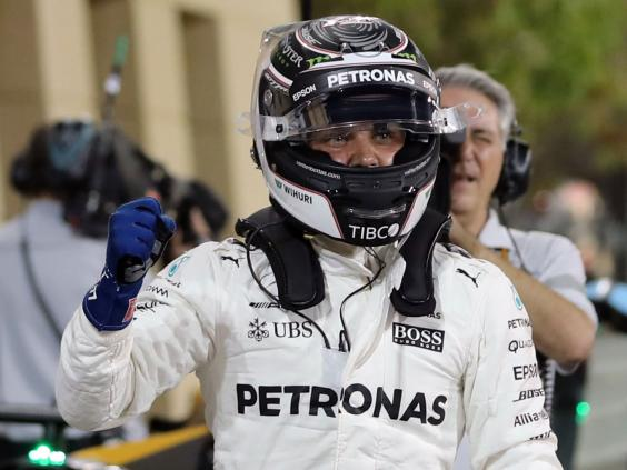 Hamilton relishes three-way battle after Bottas pole