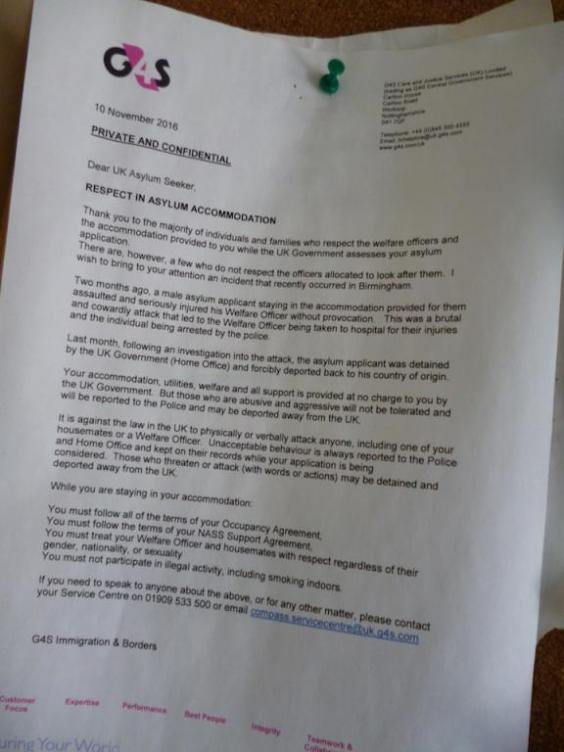 G4S Warns Asylum Seekers 'behave Or Be Deported' In Potential ...