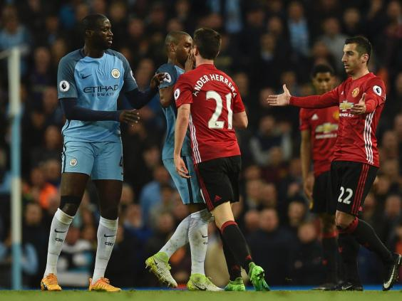 United boss Mourinho not happy with Aguero's actions in Fellaini sending off