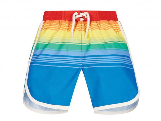 Mothercare Little Bird Stripe Swim Shorts: From £9, Mothercare