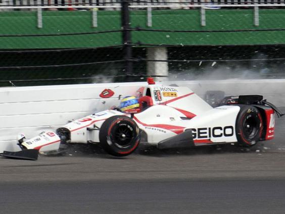 sebastien bourdais crash ex f1 driver suffers fractured pelvis and hip in indy 500 qualifying. Black Bedroom Furniture Sets. Home Design Ideas