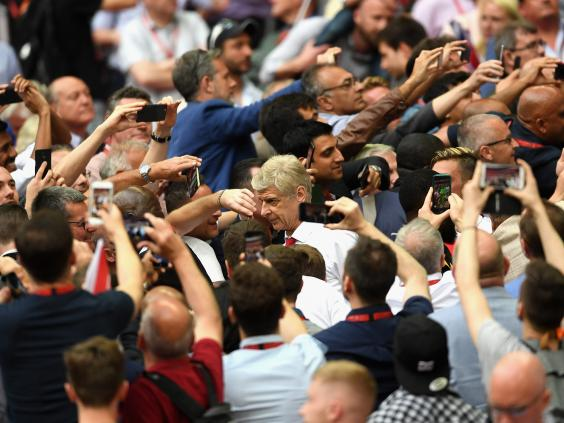 Arsene Wenger's Arsenal future may remain uncertain, but he can at least enjoy himself in the present