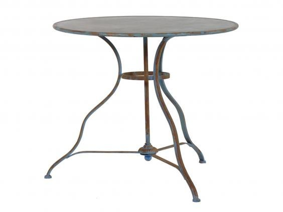 out there interiors round distressed garden table 190 out there interiors