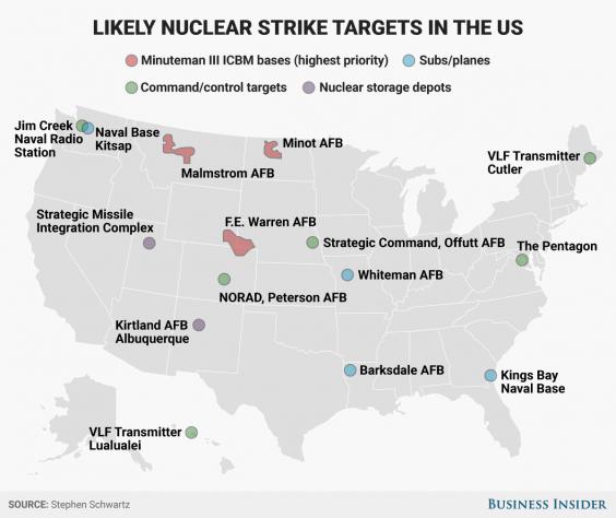Us Nuke Targets Png