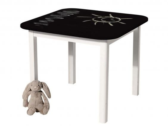 baabaa blackboard toddler table and two pied piper toddler chairs 129 gltccouk