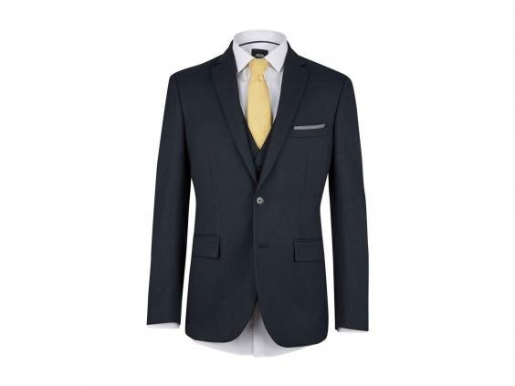 despite being a tailored fit this suit manages to stay comfortable supportive and flattering at the larger sizes the pindot design is barely discernible